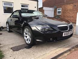 stunning black bmw 630 convertible with history 2 keys 645 m6 e63