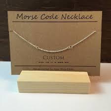morse code necklace personalized custom morse code necklace custom name necklace by inaleidesigns