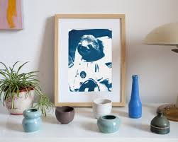 Astronaut Sloth Meme - astronaut sloth meme animal cyanotype on watercolor paper a4 size