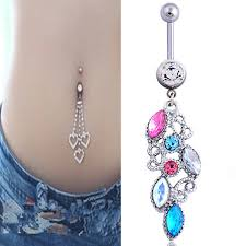 aliexpress belly rings images Crystal colorful belly button rings surgical steel belly button jpg