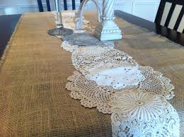 decorating a prettier table using burlap table runner ideas