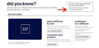 gift card online check your gap gift card balance 2 online steps