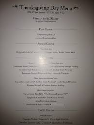 thanksgiving menu and its all you can eat for each of the four
