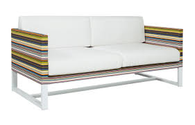 stripe 2 seater sofa viesso
