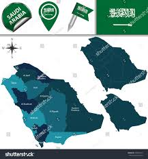 Mecca On Map Vector Map Saudi Arabia Named Divisions Stock Vector 330694313