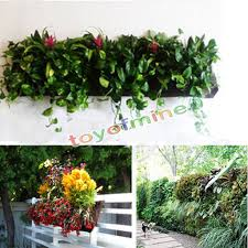 regaling outdoor wall balcony herbs garden hanging planter bag