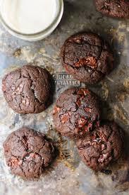 flourless double chocolate hazelnut cookies with sea salt