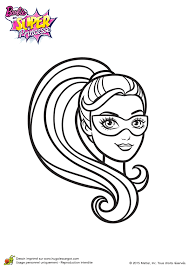 coloriage barbie super princesse portrait
