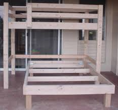 free plans build twin over full bunk bed woodworking sketch online