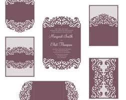 tri fold invitation template tri fold peonies 5x7 wedding invitation pocket envelope svg