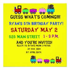 train themed birthday invitations u0026 announcements zazzle