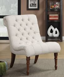 Tufted Accent Chair Linen Like Tufted Accent Chair