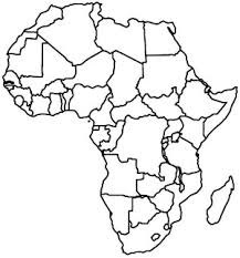 map of africa coloring page africa coloring pages african maps