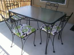 Rod Iron Patio Table And Chairs Salterini 5 Piece Wrought Iron Patio Table And Chairs