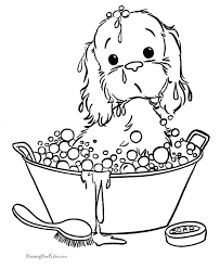 free printable puppy coloring pictures