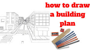 how to draw building plans how to draw a building plan draw sketch youtube
