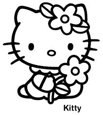 140 dessins de coloriage hello kitty à imprimer