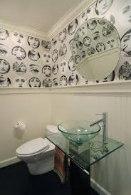funky bathroom wallpaper ideas junkers unite with kitchen cabinets a pin board and link
