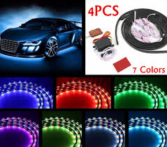 7 color led strip under car tube underglow underbody glow system