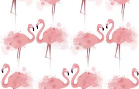 wallpaper with pink flamingos seamless texture with delicate pink flamingos stock vector