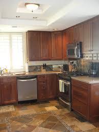 Dark Cherry Kitchen Cabinets by Dark Kitchen Cabinets Brown Wood Floors Cozy Home Design