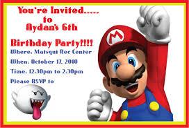 crafting xtraordinaire mario birthday invitation