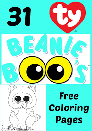 beanie boo coloring pages coloring pages ideas