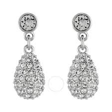 pierced earring swarovski heloise pierced earrings 1075333 swarovski