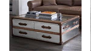 furniture awesome antique coffee table design with steamer trunk
