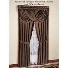 Country Curtains Door Panels by Versailles Slub Satin Window Treatment