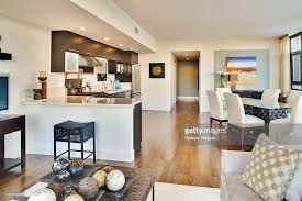 kitchen and dining room open floor plan kitchen and dining room of open floor plan stock photo getty images