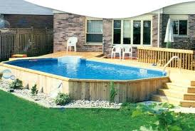Backyard Above Ground Pool by Backyard Above Ground Swimming Pool Ideas Deck Design Ideas Above