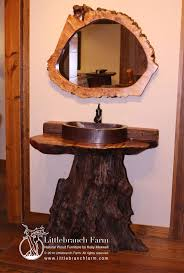 Rustic Bath Vanities Log Vanity Rustic Bathroom Vanities Live Edge Logs Wood Slab