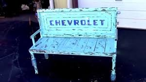 Bench Made From Tailgate Old Repurposed Truck Tailgate Bench Auto Parts Furniture Youtube