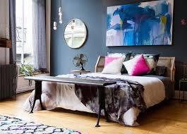 tableau chambre adulte decoration conseils déco peinture murale bleu ardoise tableau