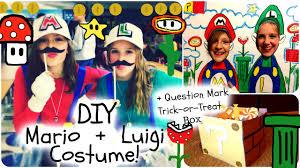 diy mario and luigi halloween costume diy trick or treat mark