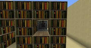 awesome bookshelves minecraft on with hidden bookshelf door
