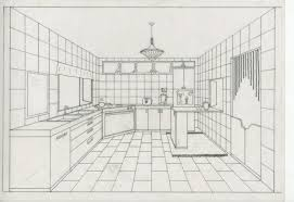 one point perspective room interior drawing aecagra org