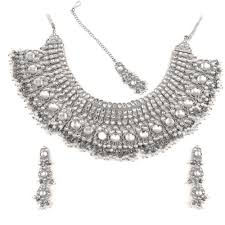 silver necklace sets images Chandini kundan necklace set by touchstone necklace sets jpg