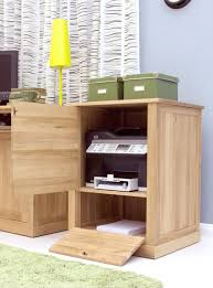 computer desk with printer storage nara solid oak office computer desk furniture printer storage