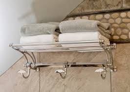 Floor Towel Racks For Bathrooms by Towel Rack Bathroom Qt Premium Modern Double Hanging Quadruple