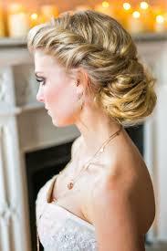 wedding hairstyles ideas side braided curly all down wedding