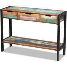 Industrial Console Table Industrial Console Table Vintage Handmade Sideboard 3 Drawers