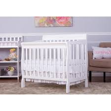 Solid Wood Mini Crib by Dream On Me Aden Convertible 4 In 1 Mini Crib White Babies