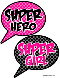 printable girly photo booth props speech bubbles from super girl pink printable photo booth prop set