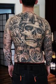 30 back skull tattoos