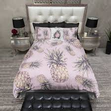 Zen Bedding Sets Tropical Pink Pineapple Duvet Bedding Sets Best Bed Linen