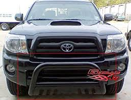 tacoma grill light bar amazon com aps bb tak023b black bull bar bolt over for select