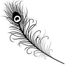 9 images of peacock feather outline coloring page indian feather
