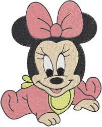 baby minnie mouse machine embroidery design 0500